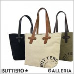 BUTTERO ブッテロ WASH CANVAS TOTE BAG ウォッシュキャンバス トートバッグ